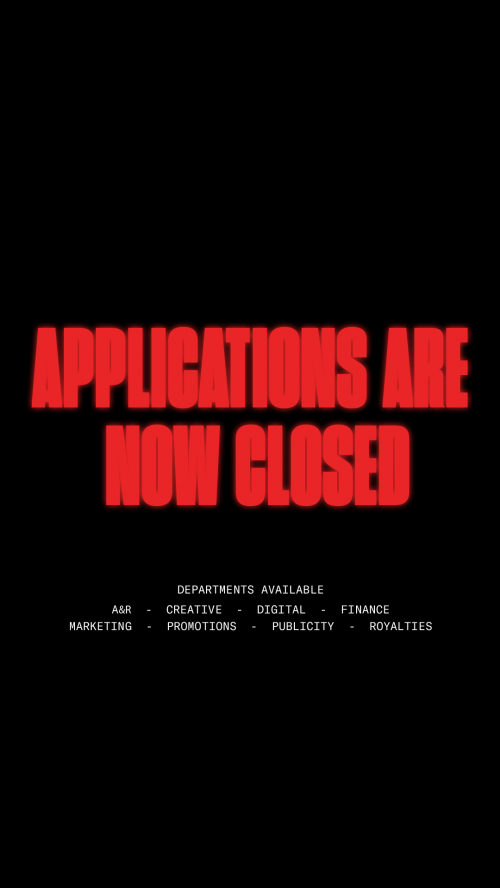 Applications Are Closed Now